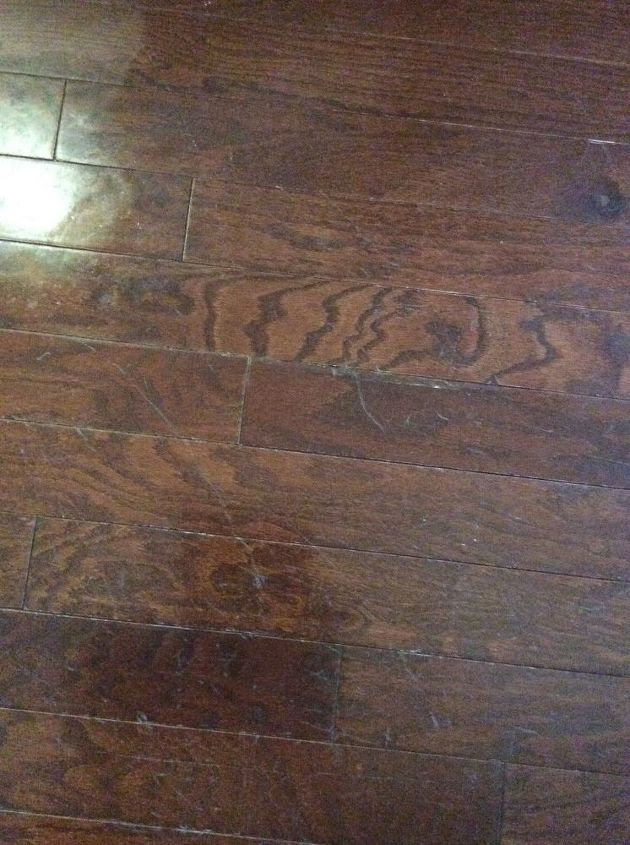 q how do you get scratches out of your hardwood floors