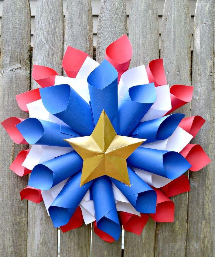 patriotic wreath memorial day july 4th