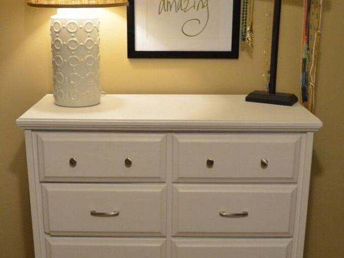 diy chalk painted dresser makeover