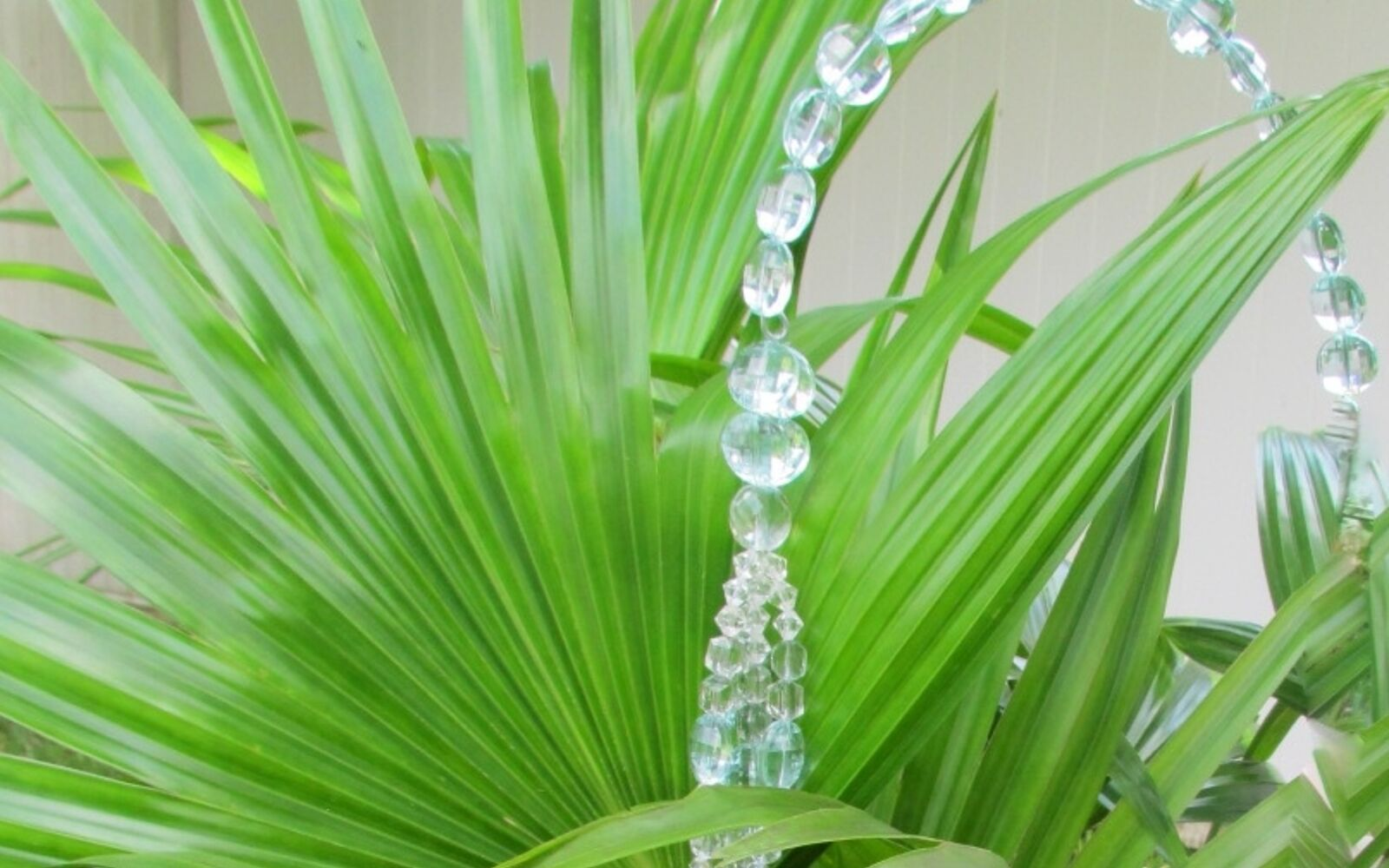 s 30 ways for you to style your garden, Make Shimmer With Crystals On Greenery