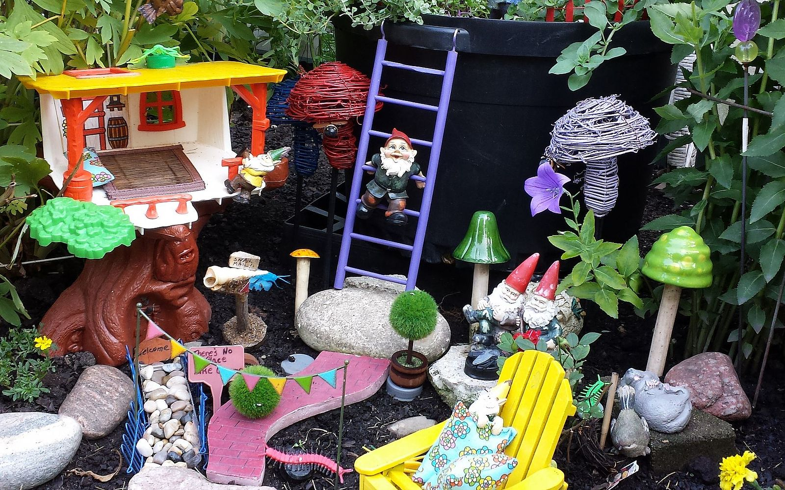 s 30 ways for you to style your garden, Decorate Your Garden With Gnomes and Fairies