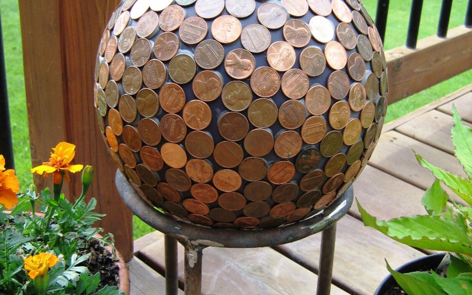 s 30 ways for you to style your garden, Repurpose Your Pennies For A Globe