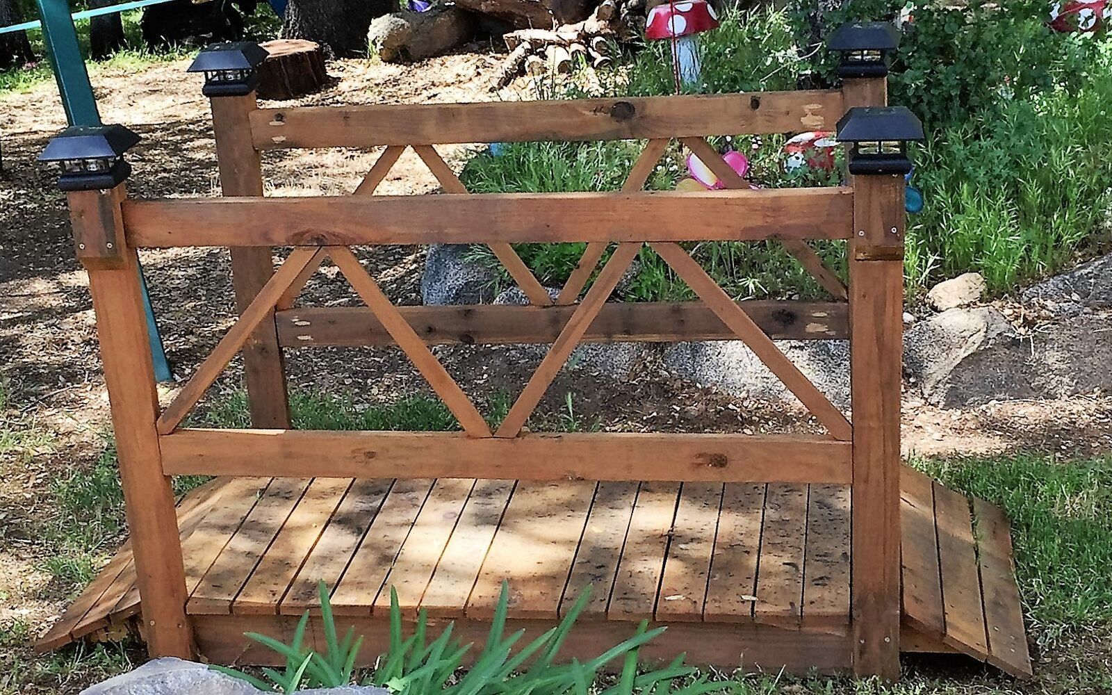 s 30 ways for you to style your garden, Add A Wooden Bridge To Your Nursery