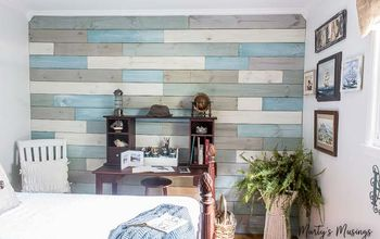 how to diy a plank wall with chalk paint for under 100