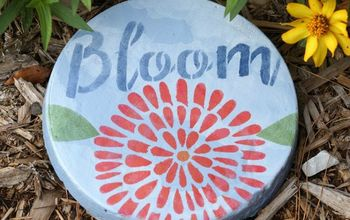 painted garden stepping stone