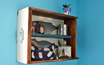 create super cute wall storage from an old drawer