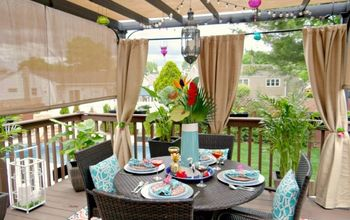 Adding Privacy and Tropical Feel to Patio Deck!