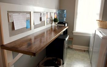 DIY Faux Butcher Block Laundry Room Counter