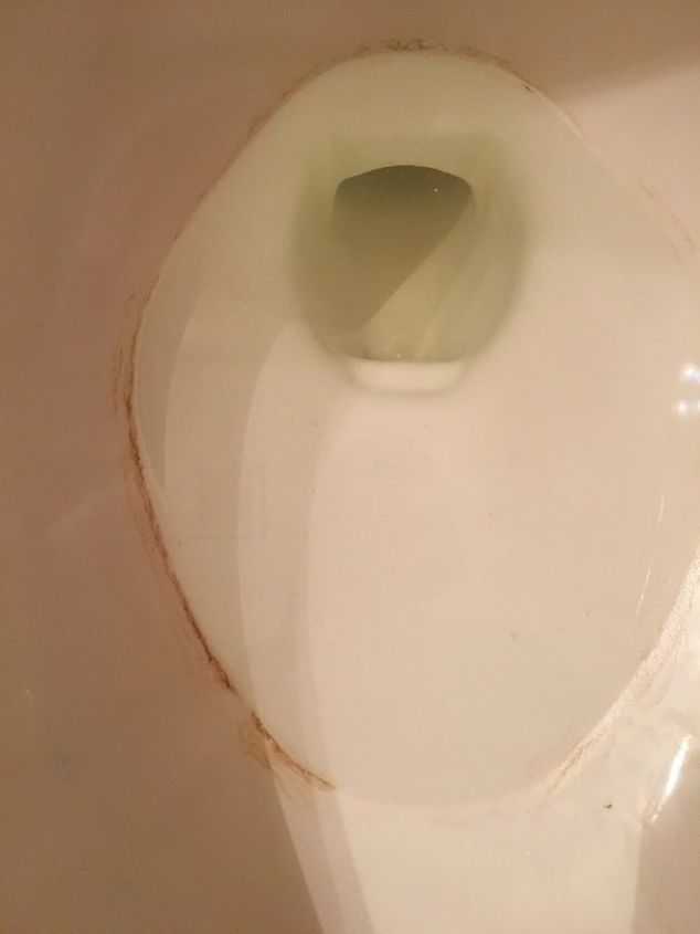 q how do i remove a hard water ring around the inside of a toilet bowl w