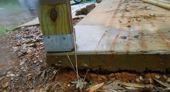 q fix and repair poured concrete porch corners