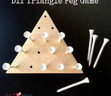 diy triangle peg board game cracker barrel copycat
