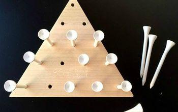 DIY Triangle Peg Board Game (Cracker Barrel Copycat)