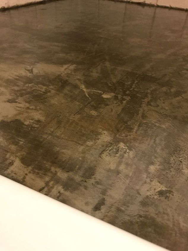 concrete counters feather finish over formica my version. Black Bedroom Furniture Sets. Home Design Ideas