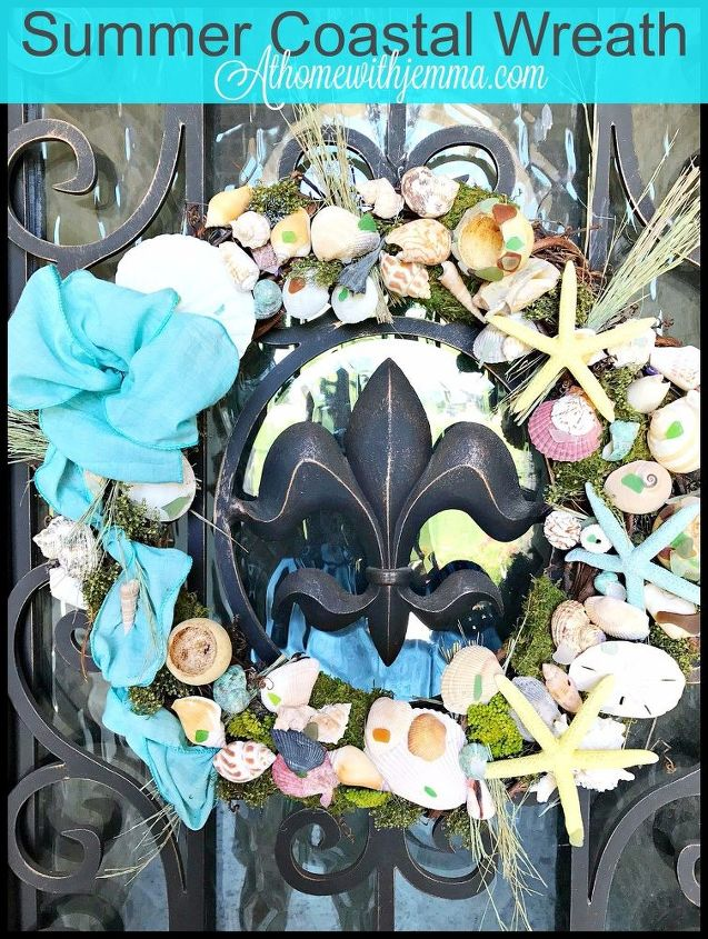 diy coastal summer wreath