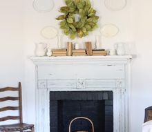 antique fireplace mantel before and after