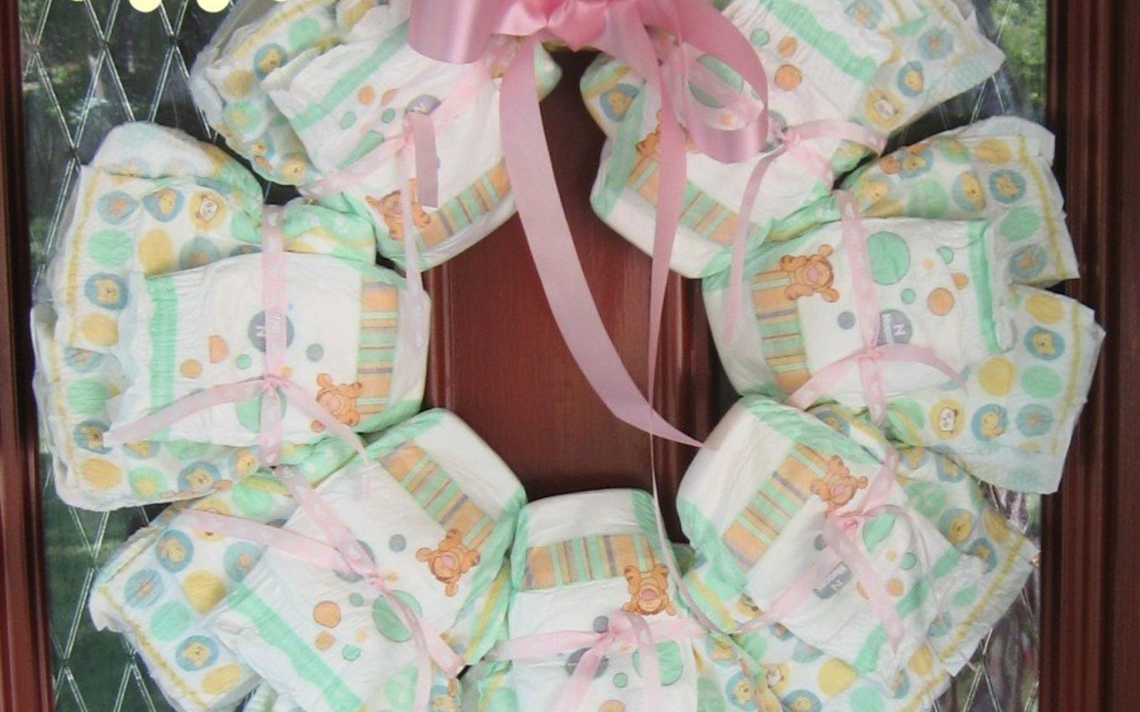 s 17 tricks to make a gorgeous wreath in half the time, Build A Wreath Of Diapers For A Shower