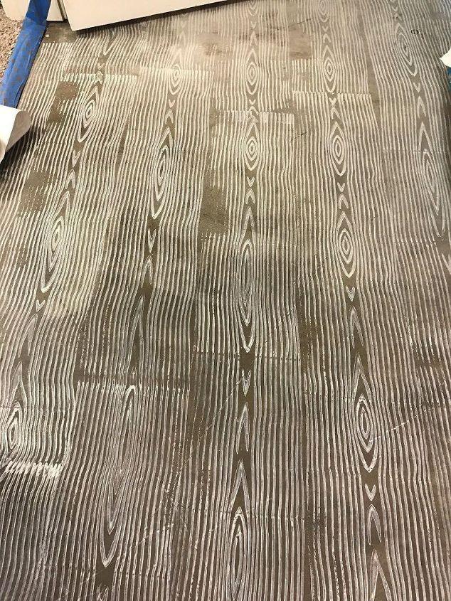 Grey Stenciled Floor