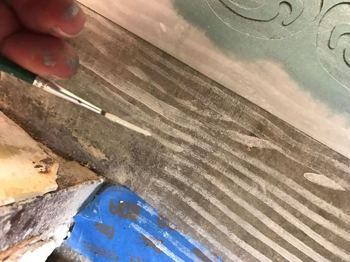 Turning Concrete Floors Into Faux Wood With Paint