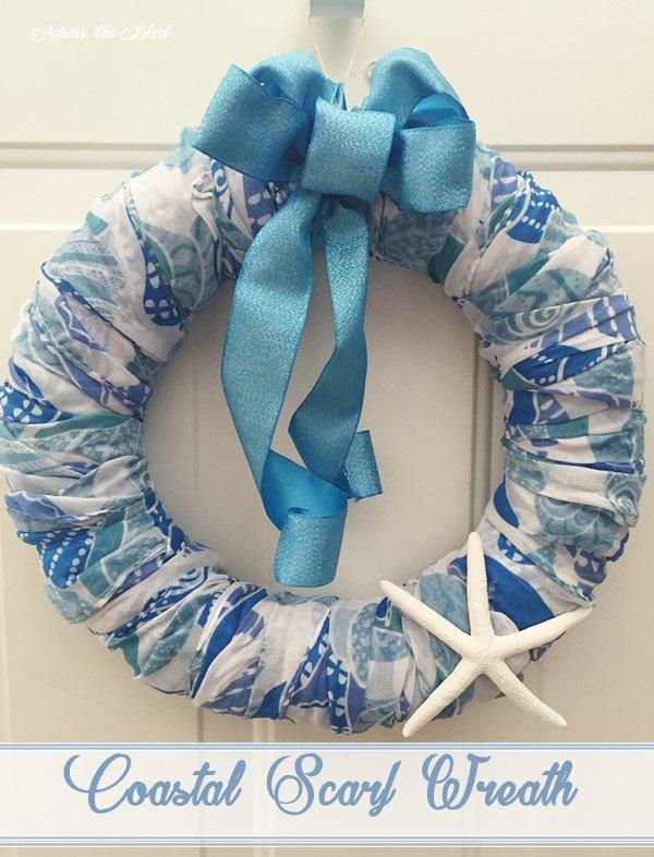 s 30 coastal style decor ideas perfect your home, Wrap Your Beachy Scarf On A Wreath