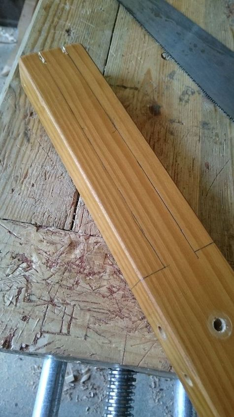 wooden window latches from recycled bed frame
