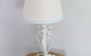 upcycled yard sale lamp from drab to fab