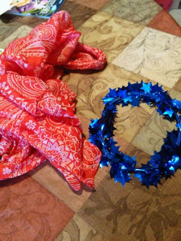 a quick memorial day wreath for my door