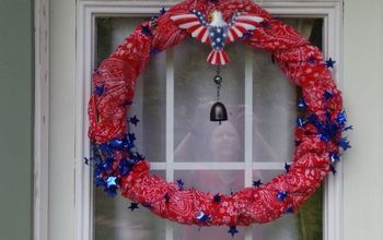 A Quick Memorial Day Wreath for My Door