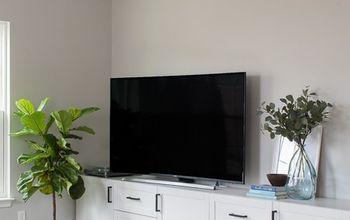 Modern Media Center Using IKEA BESTA Cabinets