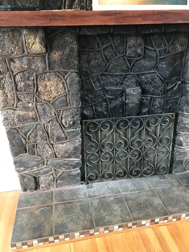 any ideas on how to do german schmear on an old stone fireplace? | hometalk
