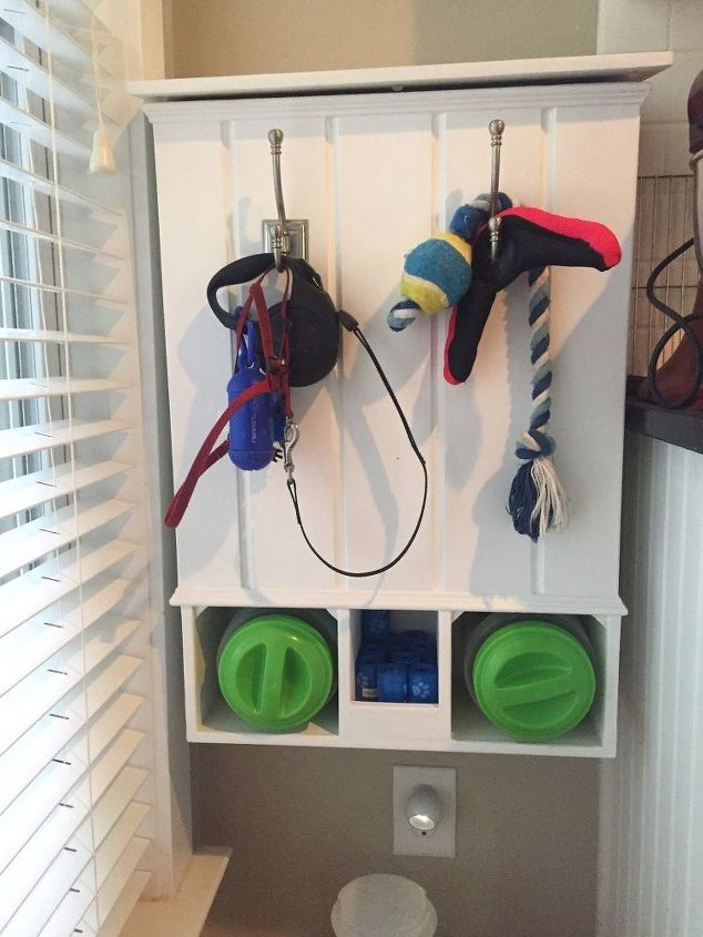 homemade dog food and toy station
