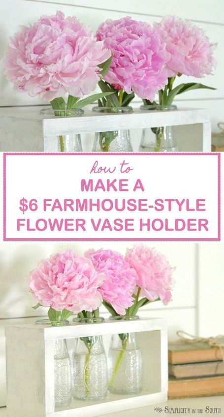 6 Dollar Tree Craft Diy Farmhouse Style Vase Holder Hometalk