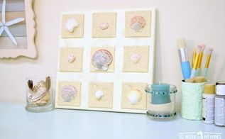 beach shells canvas a quick diy project
