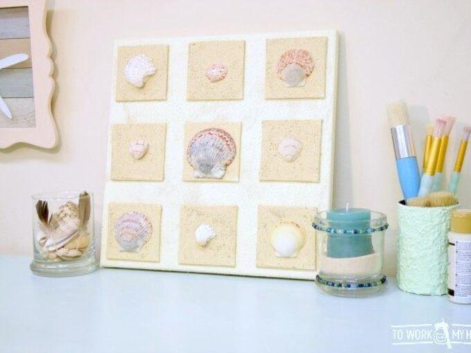 beach shells canvas a quick diy project