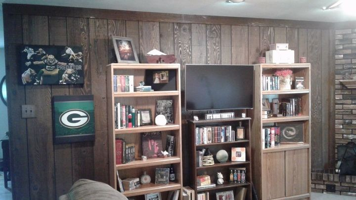 q how can i update dark wood paneling
