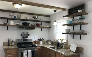 open shelving kitchen makeover