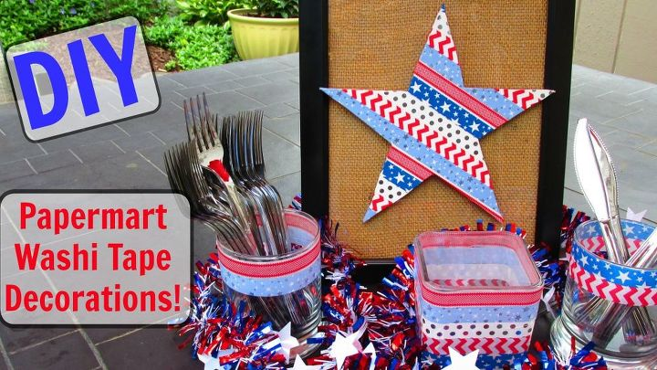 diy paper mart washi tape fourth of july decorations