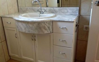 How to Faux Marble Your Bathroom Countertop