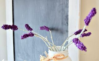 how to make pretty lavender stems with beads