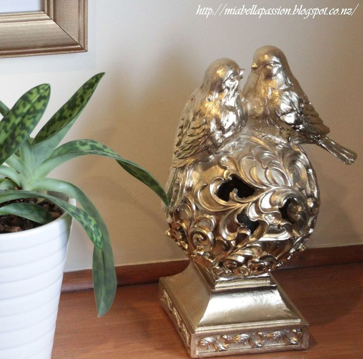 s 30 stunning ways to use metallic paint no experience necessary, Update An Ugly Centerpiece With Gold