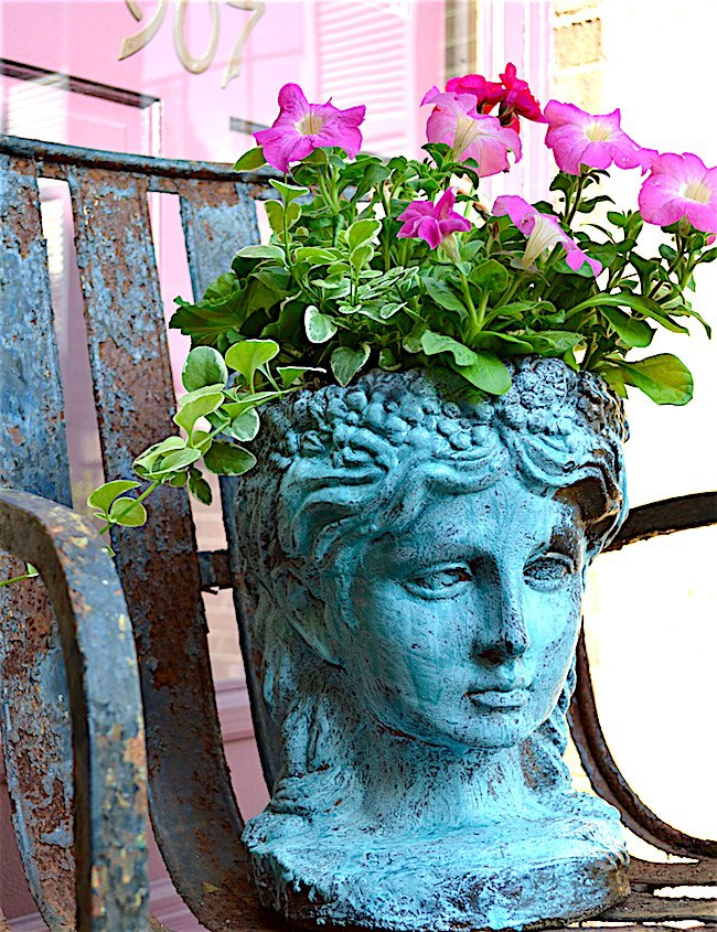 s 30 stunning ways to use metallic paint no experience necessary, Decorate A Garden Bust With Metal