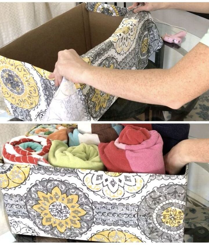 s 10 super simple ways to upcycle items in your home for storage, Organize Your Linen Closet With A Diaper Box