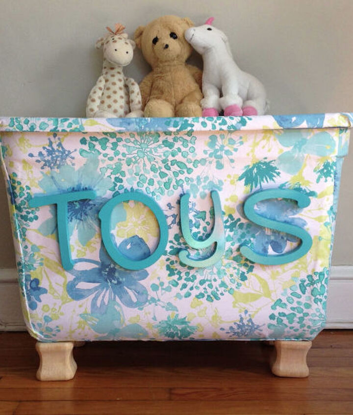 s 10 super simple ways to upcycle items in your home for storage, Transition A Bin To A Toy Bin