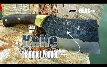 DIY Hammer Peened Cleaver Knife