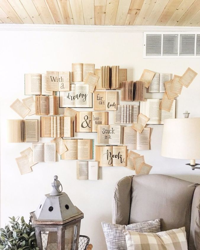 diy book wall tutorial