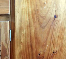 Eliminating Scratches And Blemishes From Wooden Cabinet And Furniture, A  Pine Cabinet Has Been Scratched