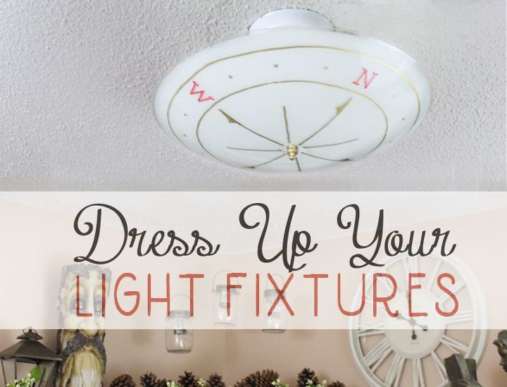 dress up your ceiling light fixtures
