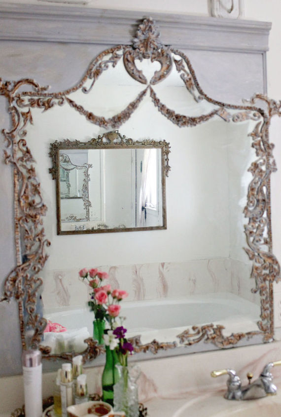 s 10 different ways to beautify your drab mirror, Transform A Basic Mirror Into A Trumeau