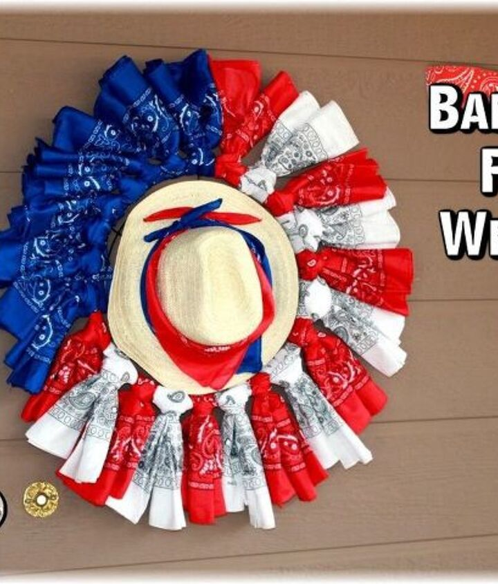 s 15 unusual flag ideas that actually look amazing, Knot Patriotic Bandanas On A Wreath