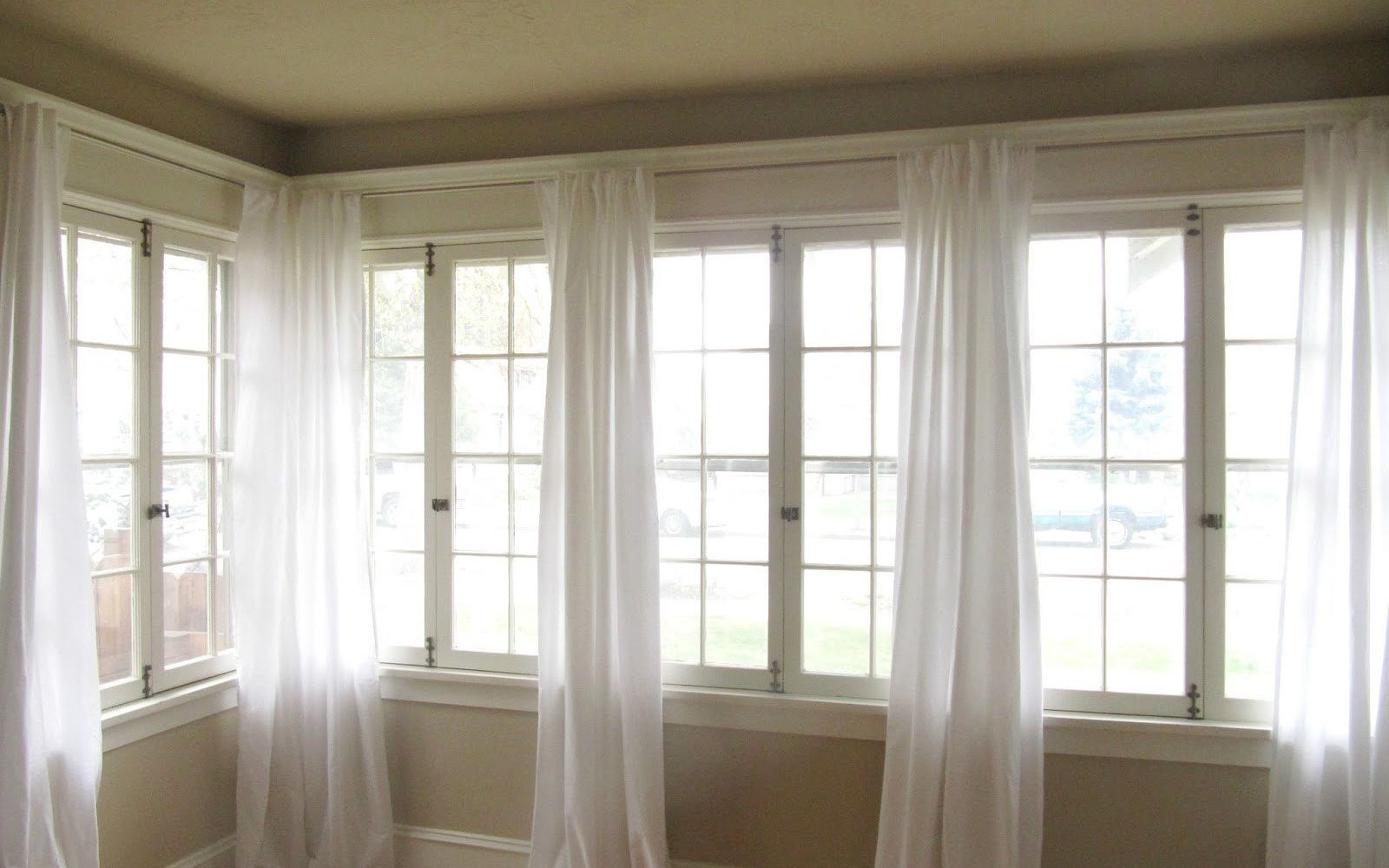 s 15 ways to make your home decor look like you spent hundreds, Choose 5 Cotton Sheets For Curtains