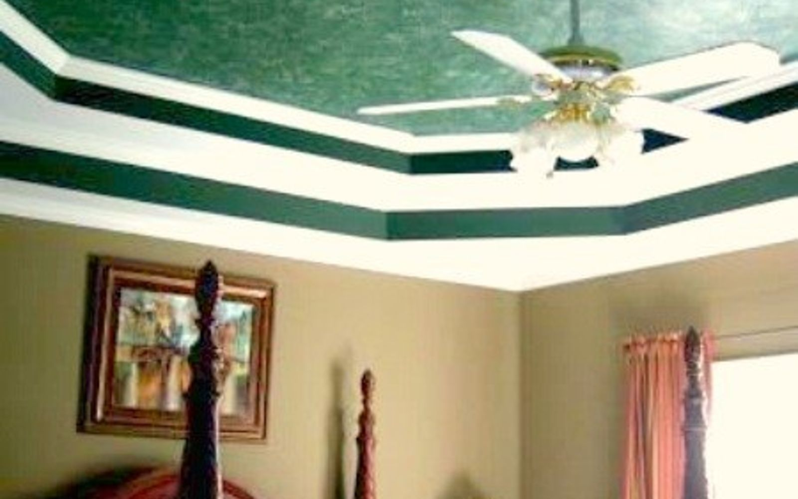 s 15 ways to make your home decor look like you spent hundreds, Paint A Bewitching Faux Marble Ceiling